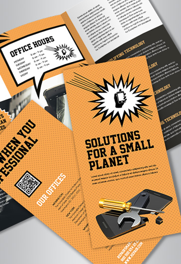 Free Brochure Templates In PSD By ElegantFlyer - Tri fold brochure psd template