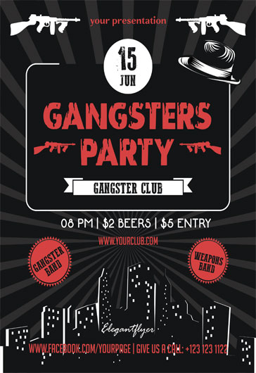 Free Party Flyer Templates For Photoshop  By Elegantflyer