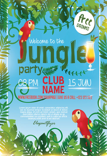 Free Template for Jungle Party