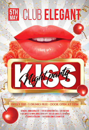 Kiss Party – Flyer PSD Template