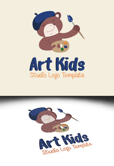 Art Kids Studio – Premium Logo Template