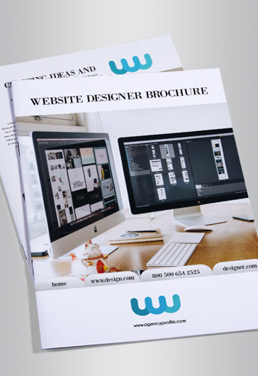 Website Designer – Bi-Fold Brochure PSD Template