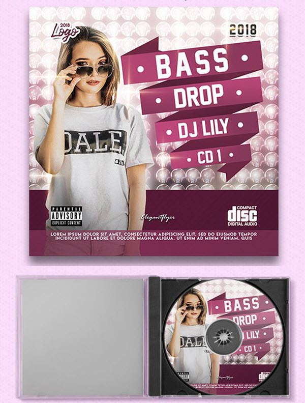 Collection of Multipurpose Free CD Cover Templates in PSD | by ...
