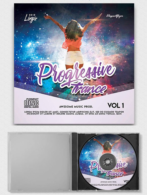 The Collection of Multipurpose Free CD/DVD Cover PSD Templates