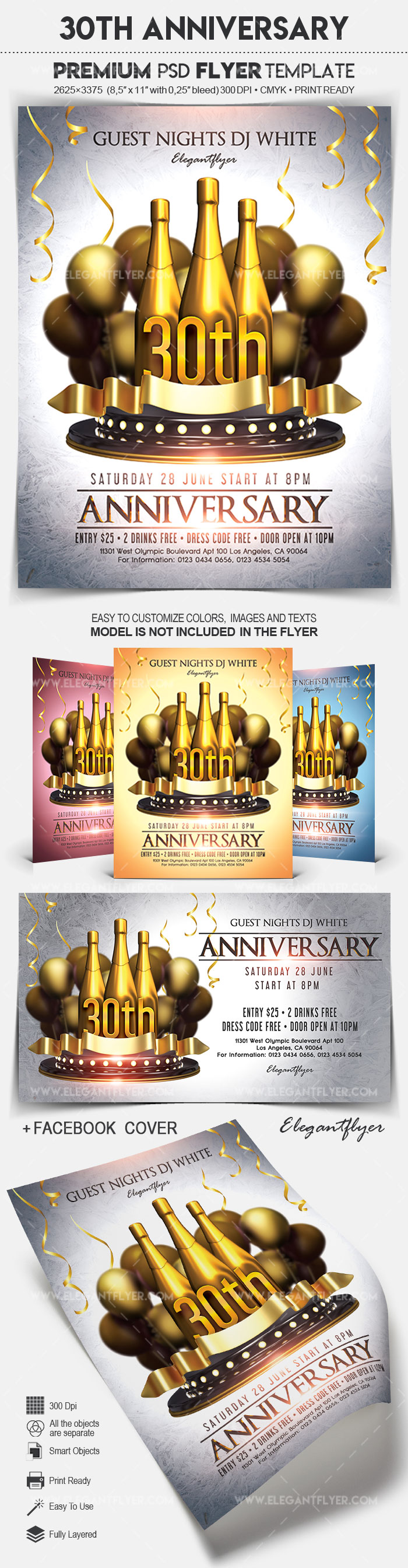 30th Anniversary – Flyer PSD Template