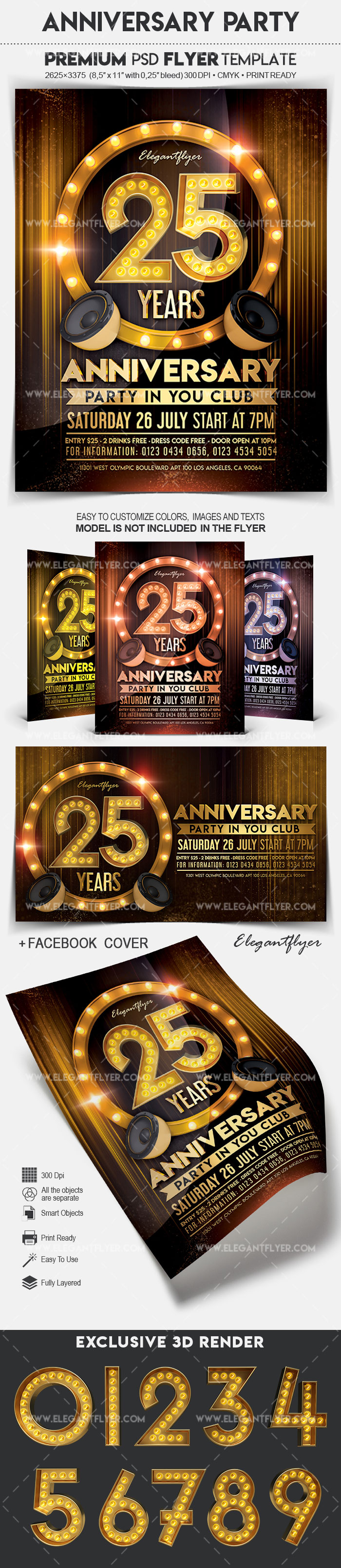 Anniversary Party – Flyer PSD Template