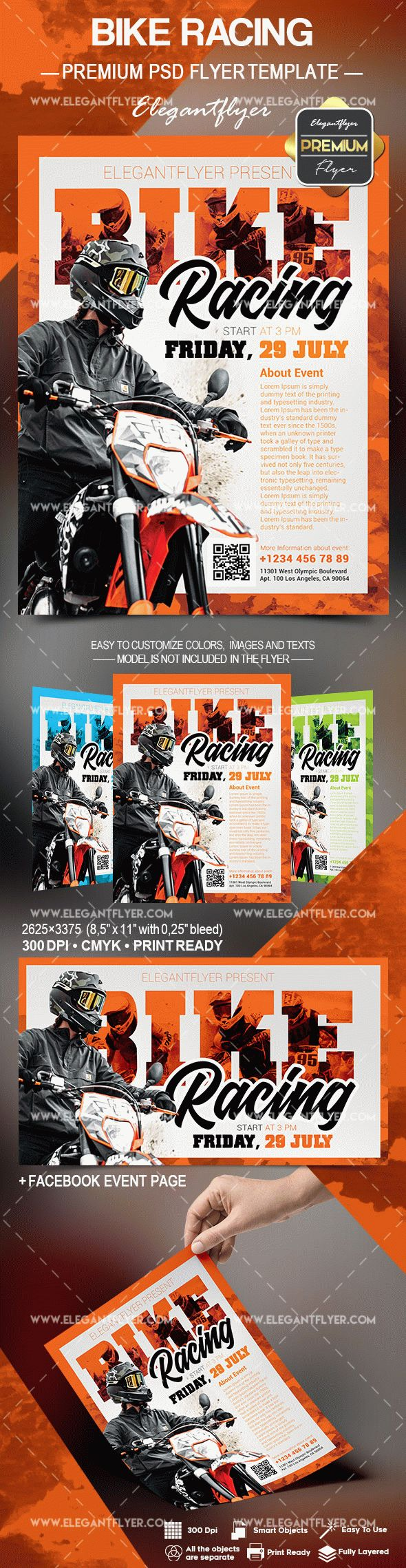 Bike Racing – Flyer PSD Template