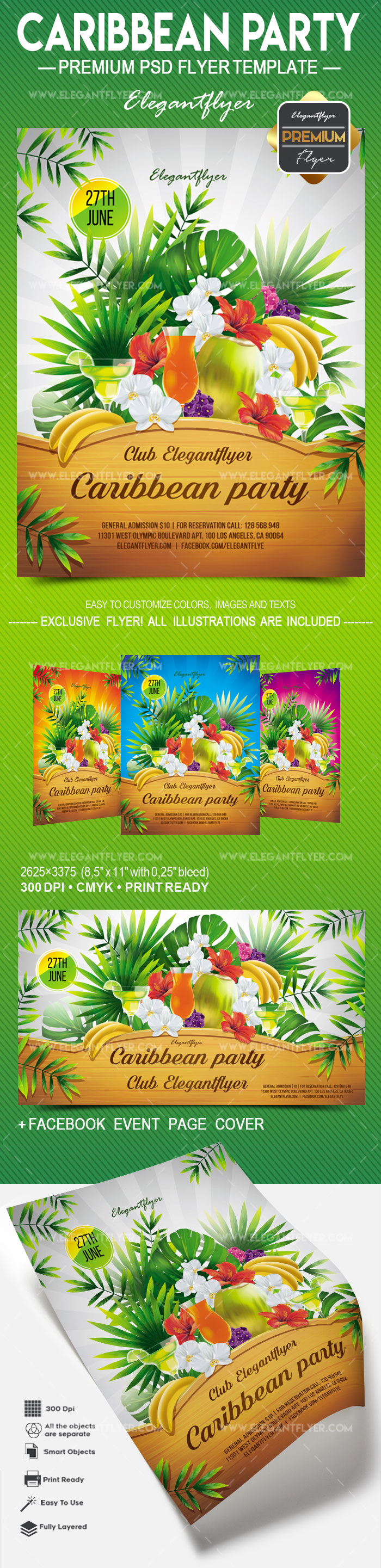 Caribbean Party – Flyer PSD Template