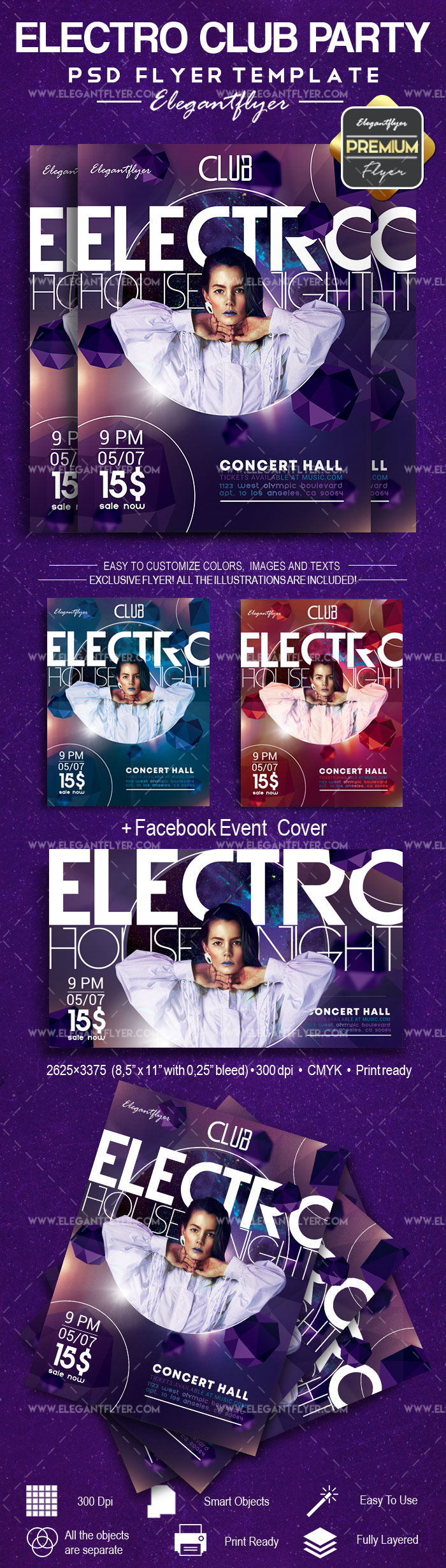 Electro Club Party – Flyer PSD Template