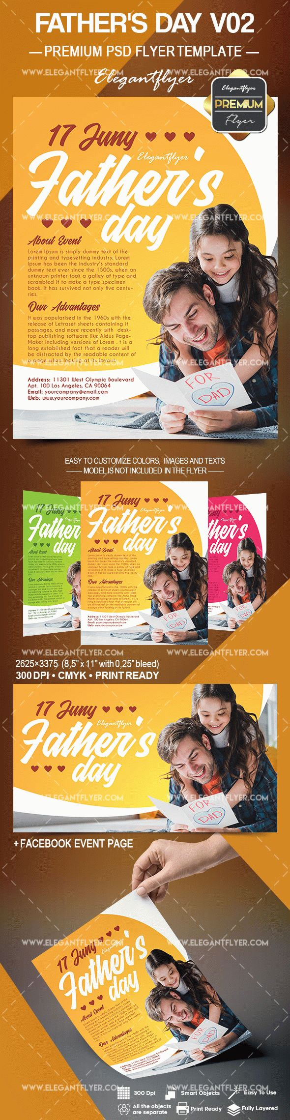 Father's Day V02 – Flyer PSD Template