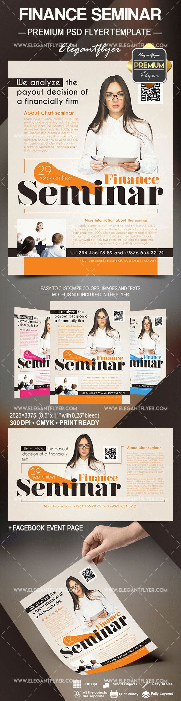 Finance Seminar – Flyer PSD Template