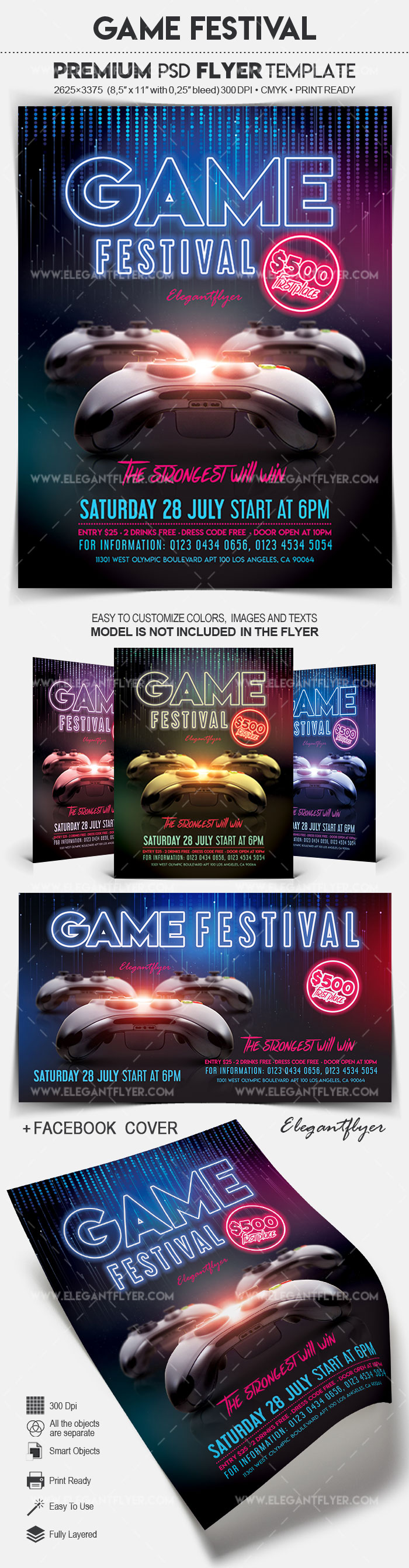 Game Festival – Flyer PSD Template