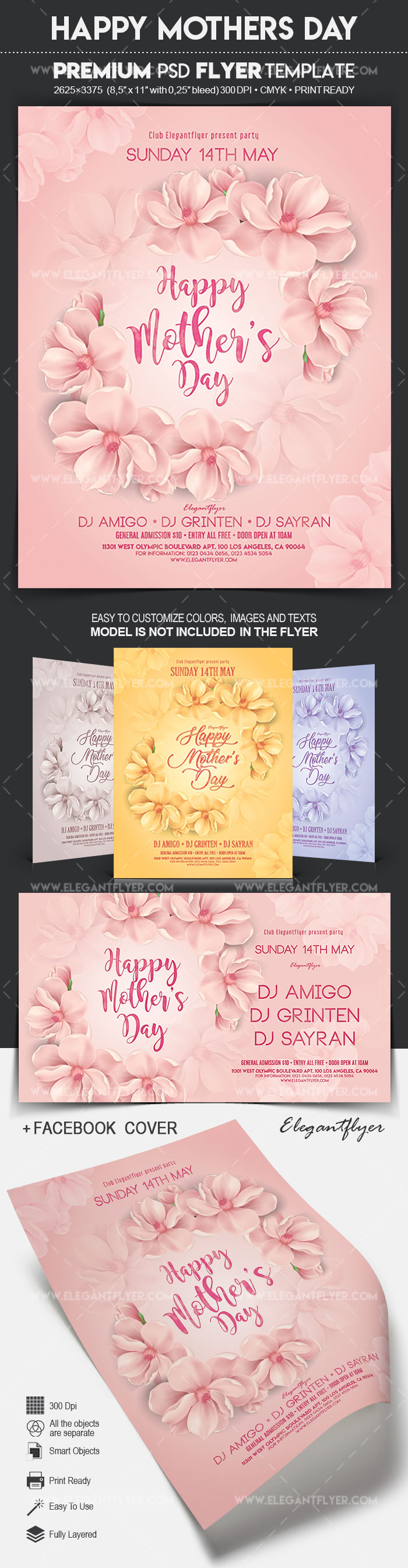 Happy Mother's Day – Flyer PSD Template