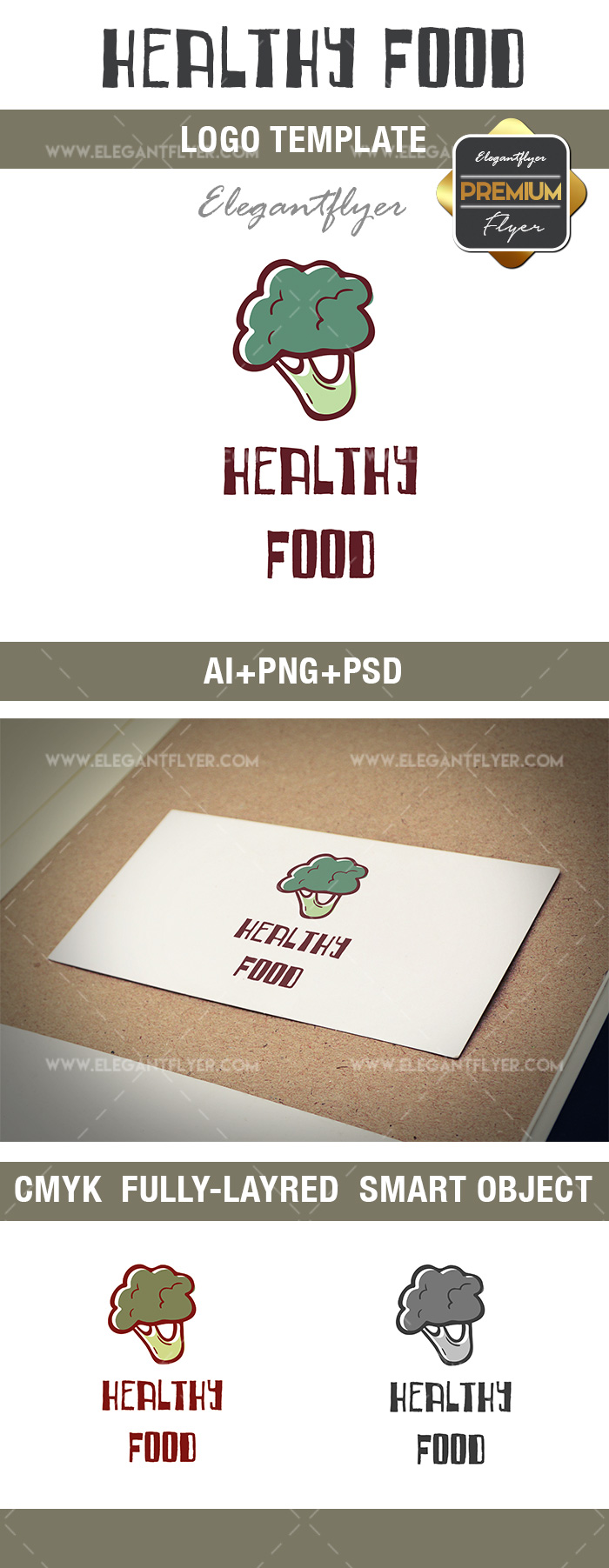 Healthy Food – Premium Logo Template