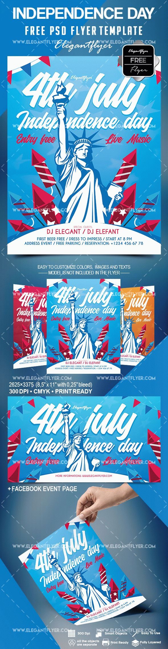 Free Flyer for Independence Day
