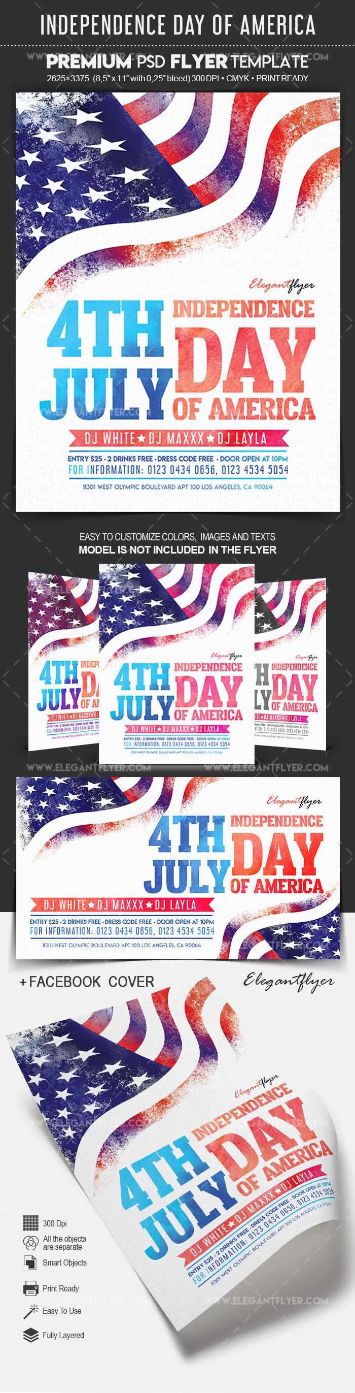Independence Day of America – Flyer PSD Template