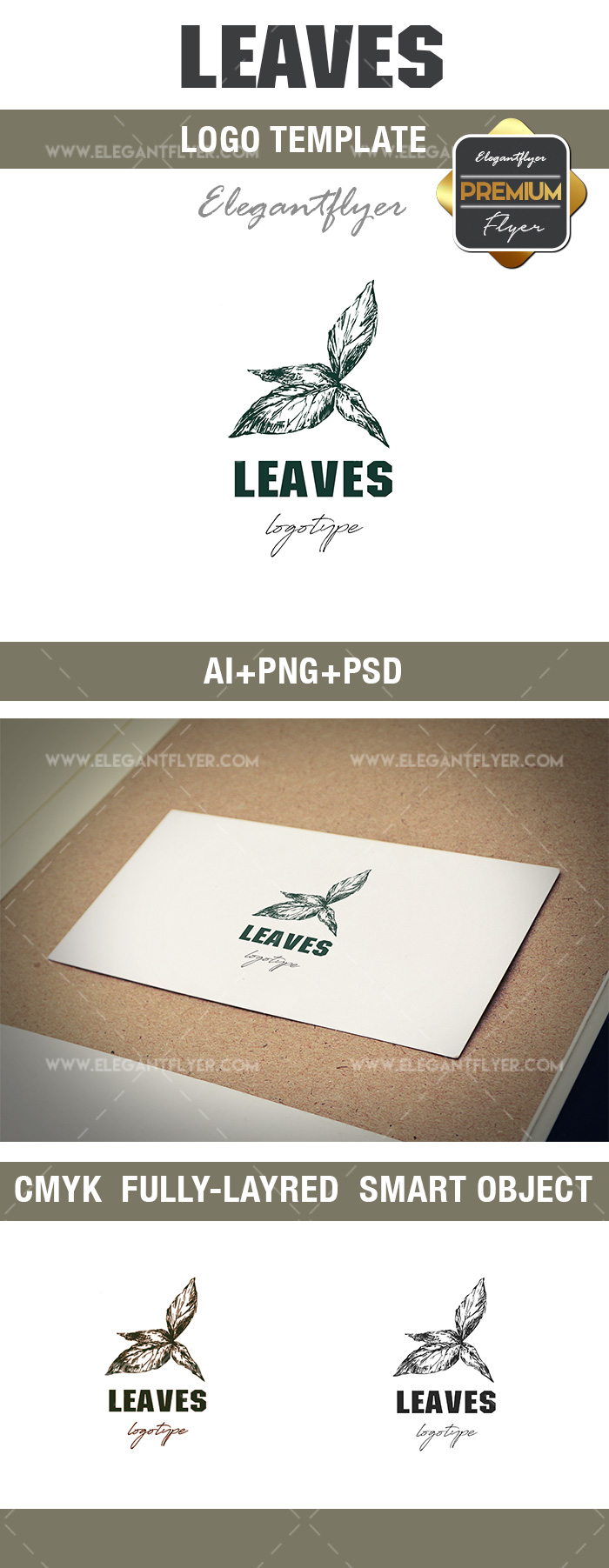 Leaves – Premium Logo Template
