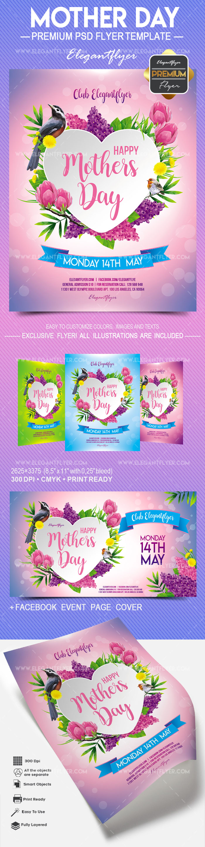 Mother Day – Flyer PSD Template