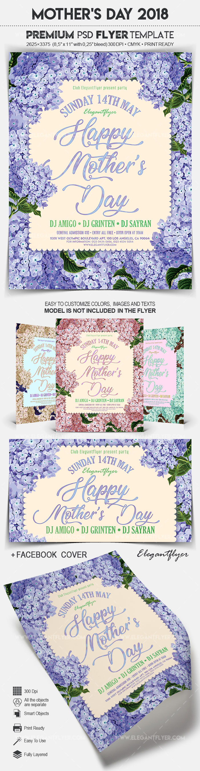 Mother's Day 2018 – Flyer PSD Template