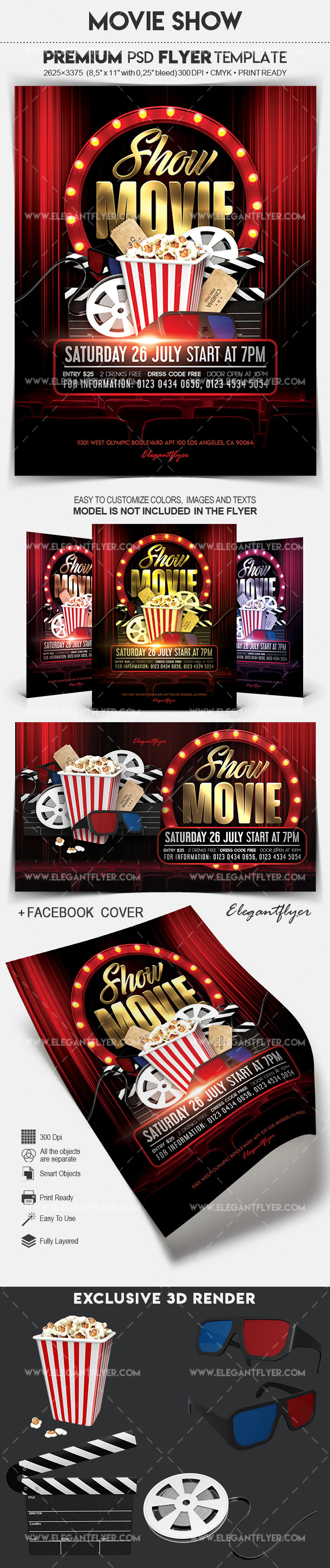Movie Show – Flyer PSD Template
