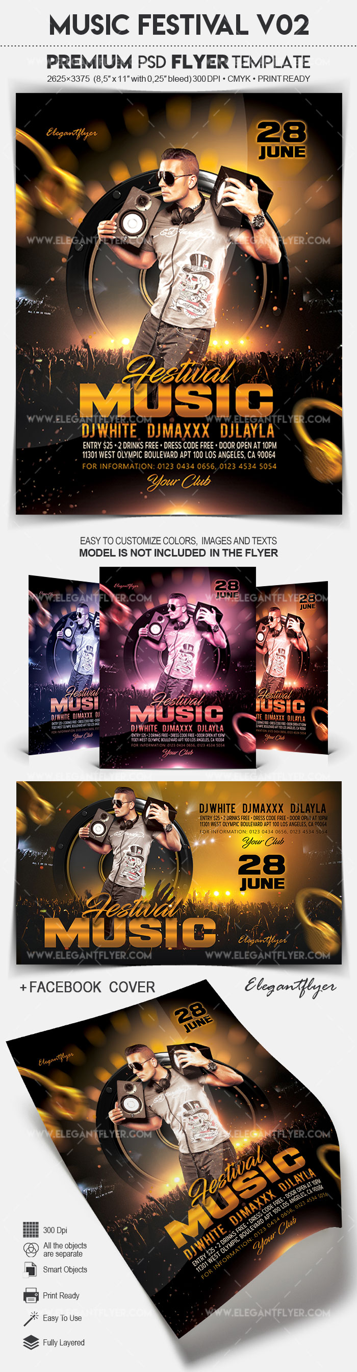 Music Festival V02 – Flyer PSD Template