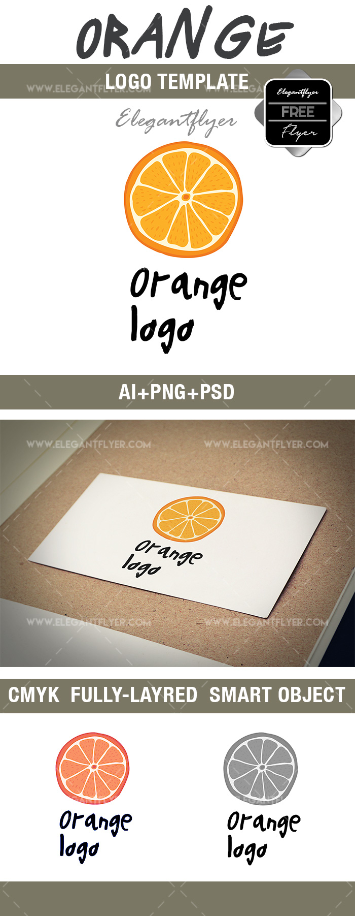 Orange – Free Logo Template