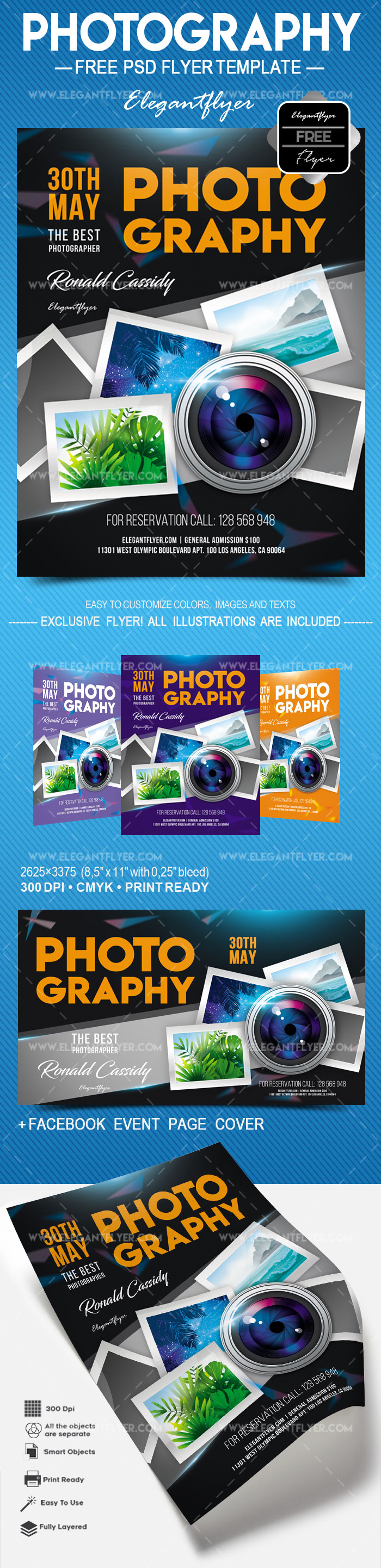 Photography – Free Flyer PSD Template