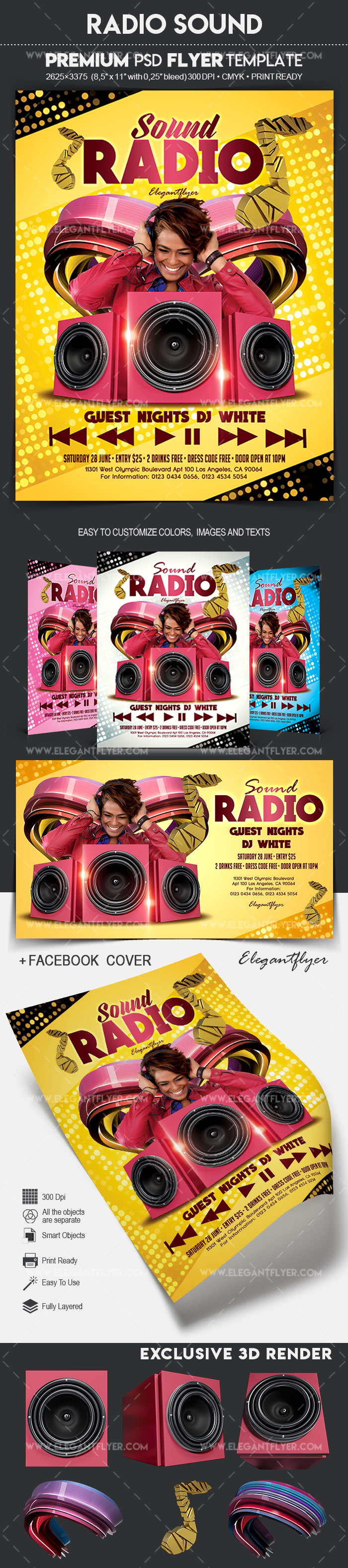Radio Sound – Flyer PSD Template