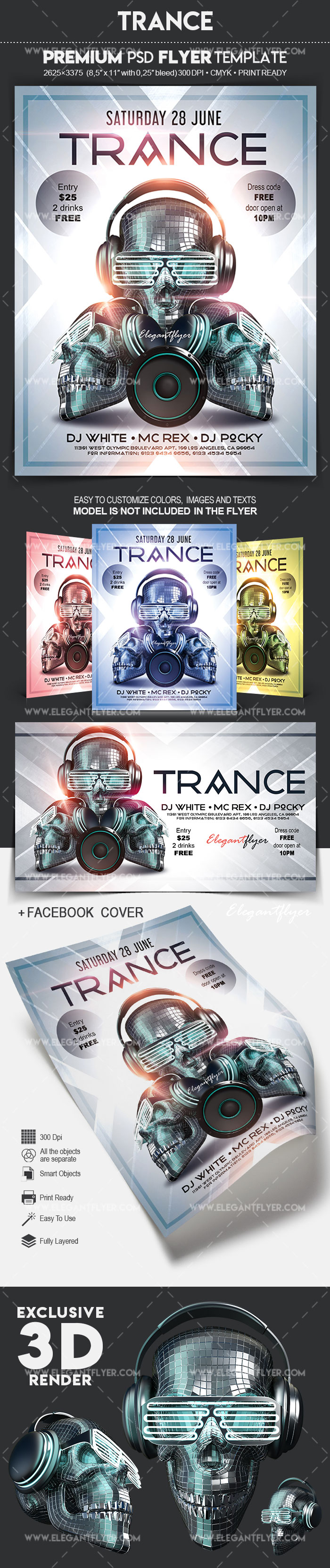 Trance – Flyer PSD Template