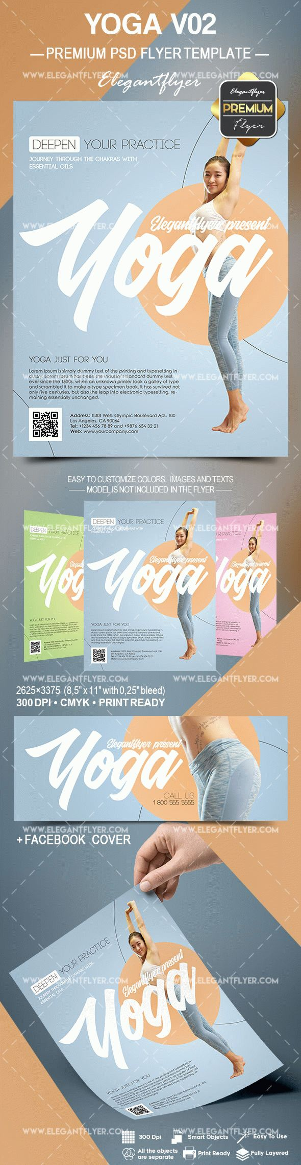 Yoga V02 – Flyer PSD Template
