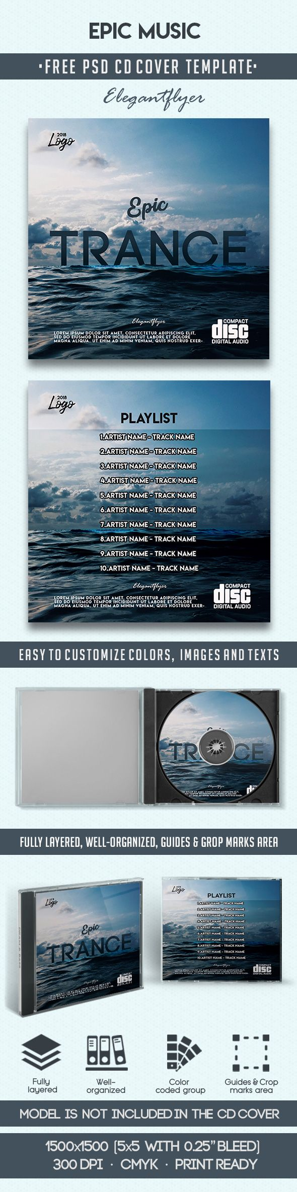 Epic Music Free Cd Template