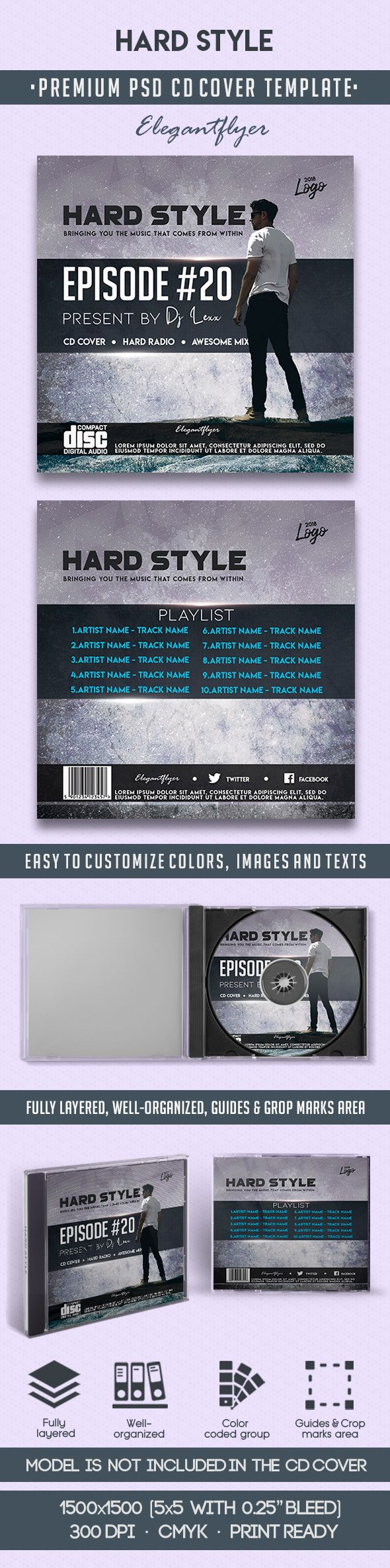 Hard Style CD Cover in PSD