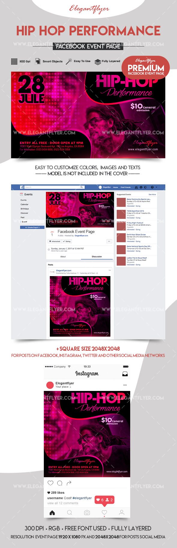 Hip Hop Performance – Premium Facebook Event Page