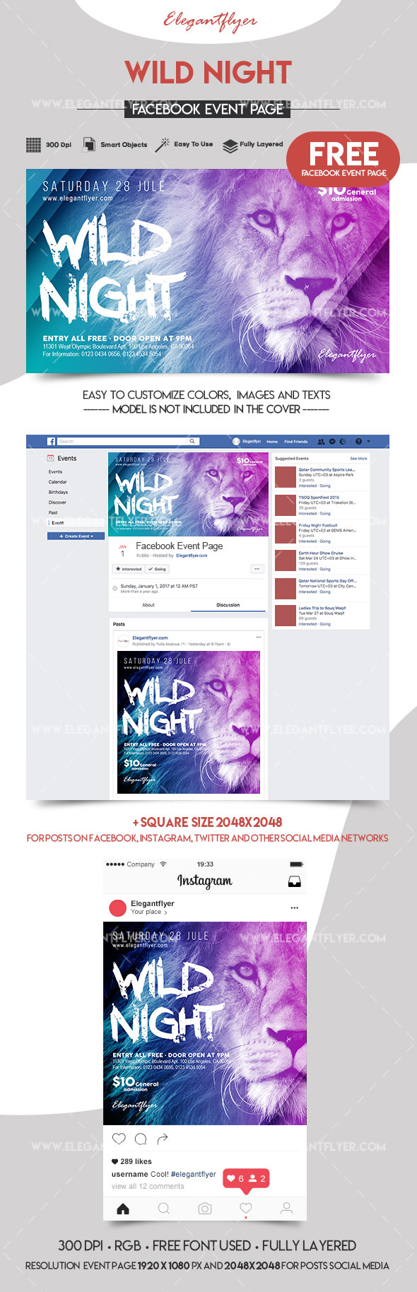 Wild Night – Free Facebook Event Page