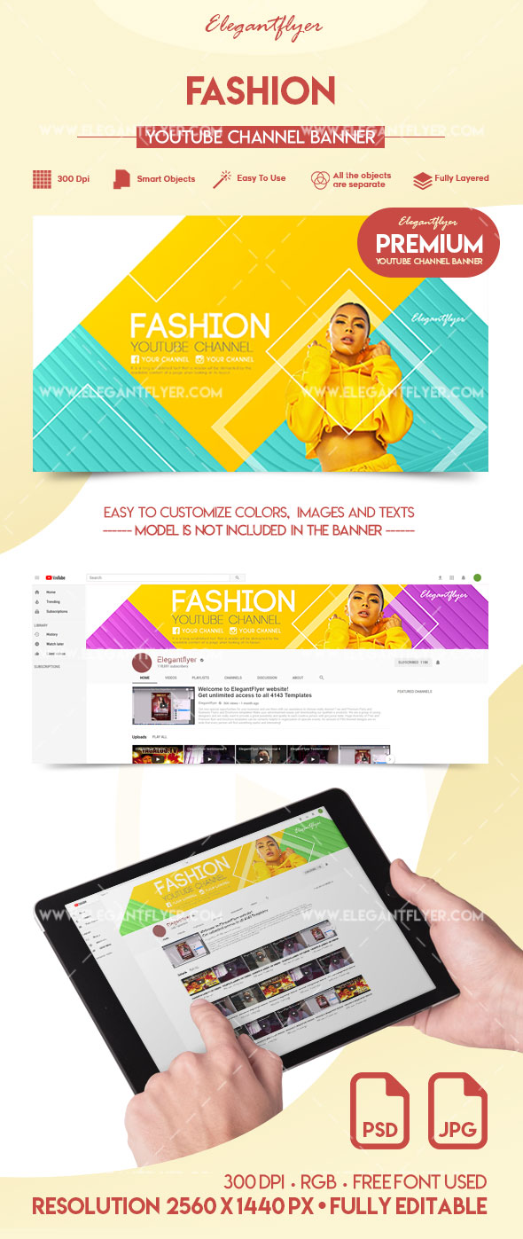 Fashion – Premium YouTube Channel Banner