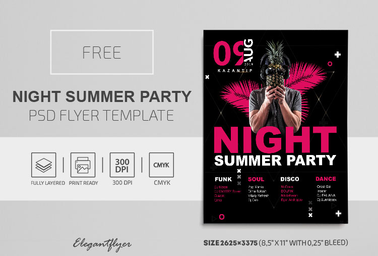 25+ Free Downloadable Summer Party Flyer PSD Templates!