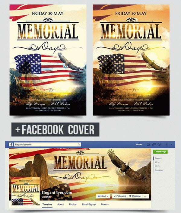 20 Memorial Day Free And Premium PSD Flyer Print Templates