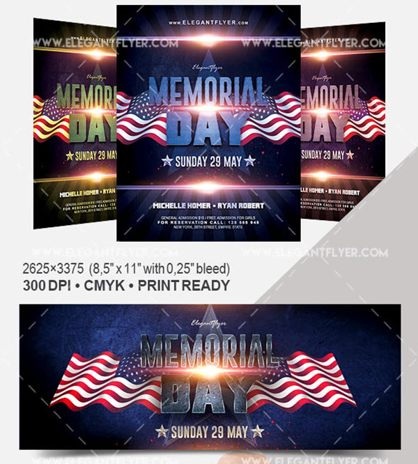 20 Memorial Day Free and Premium PSD Flyer Print Templates | by