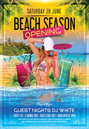 Beach Season – Flyer PSD Template