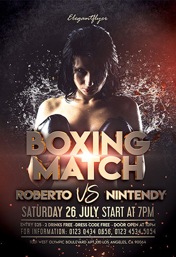 Boxing Match – Flyer PSD Template