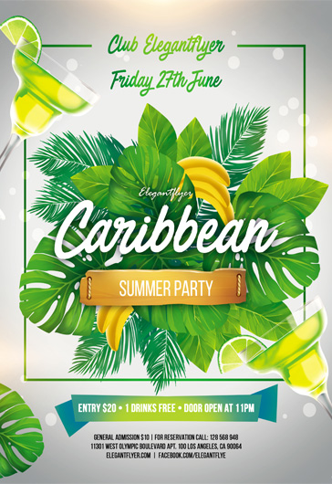 Summer Calling – Flyer PSD Template