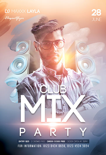 Cosmic Party – Flyer PSD Template