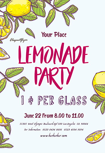 Lemonade Party Flyer Template