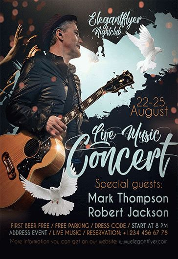 Live Music Concert – Flyer PSD Template