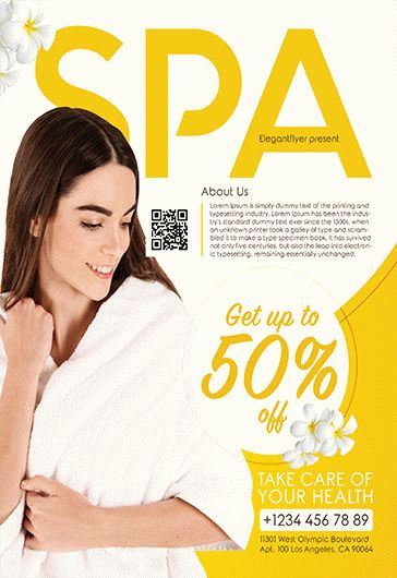 Spa and Wellness – Flyer PSD Template