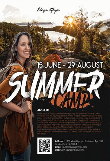 Free Flyer for Summer Camp
