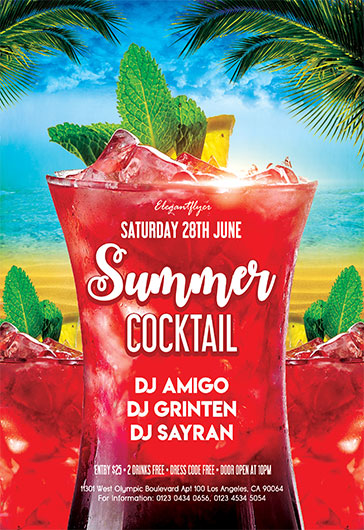 Summer Cocktail – Flyer PSD Template