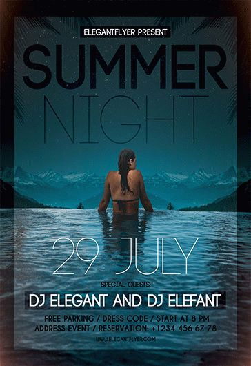 Summer Night V02 – Flyer PSD Template