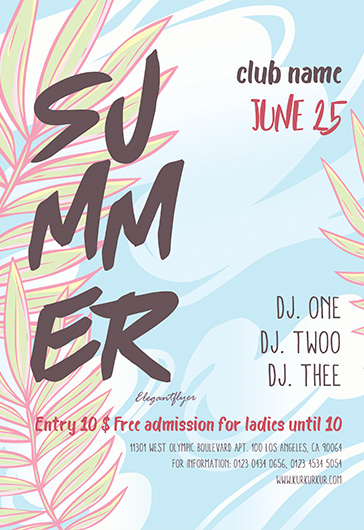 Free summer flyer templates for photoshop by elegantflyer summer free flyer psd template saigontimesfo