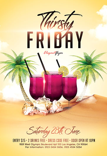 Thirsty Friday – Flyer PSD Template